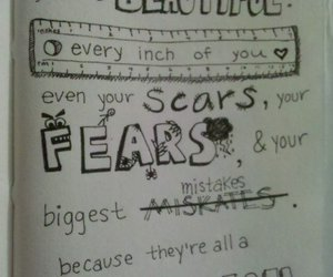 beautiful, quote, and scars image