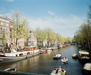 boats, amsterdam, and art image
