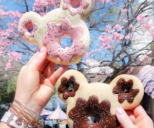 aesthetic, background, and donut image