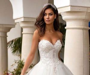 amazing, long dress, and make up image