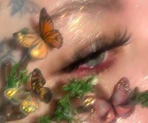 butterfly, aesthetic, and makeup image