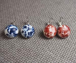 etsy, silver earrings, and modern earrings image