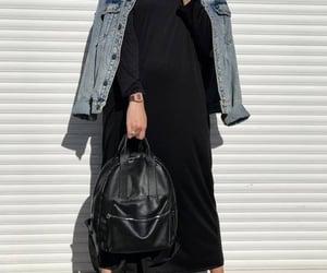 black, hijab, and noir image
