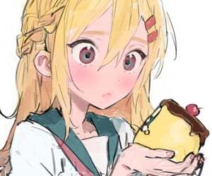aesthetic, anime, and cake image