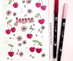 art, cheery, and cherry image