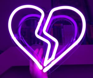 purple, neon, and heart image
