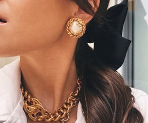 fashion, gold, and chanel image