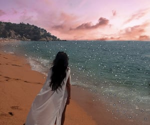 beach, beach view, and girl image
