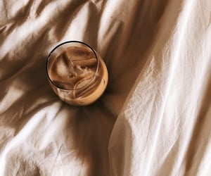 coffee, iced coffee, and linen image
