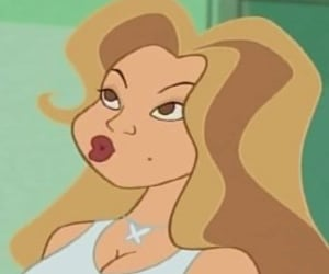 cartoon and Mariah Carey image