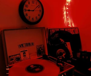 red, dark, and aesthetic image