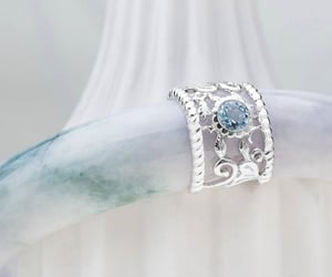blue, silver, and stone image