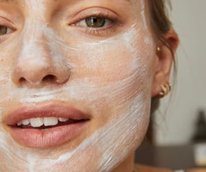 facial, skin care, and supple image