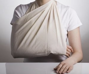 arm, bandage, and broken arm image