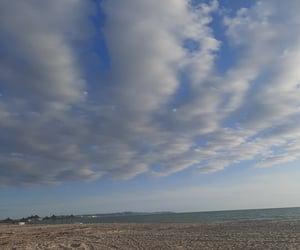 beach, sky, and cloud image
