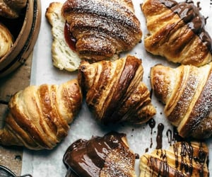 croissant, chocolate, and food image
