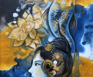 koi, monster, and goddess image