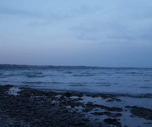 beach, blue, and dark image