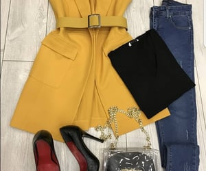 Bleu, jeans, and yellow image