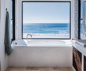 architecture, bathroom, and beach house image