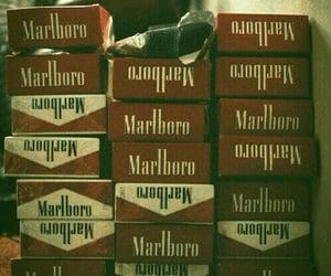 cigarette, marlboro, and smoke image