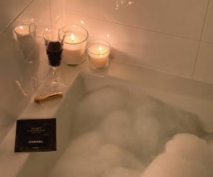 candle, bubbles, and luxury image