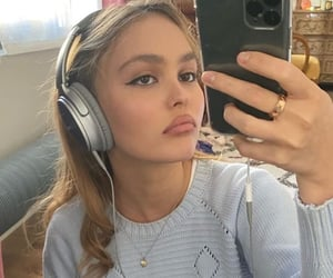 lily rose depp, aesthetic, and model image
