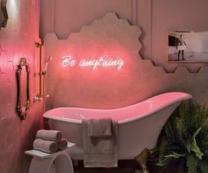 bathroom, home, and pink image