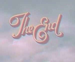 the end, vintage, and end image