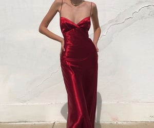 maxi dress, red gown dress, and ig model image