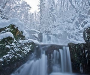 beauty, landscape, and snow image