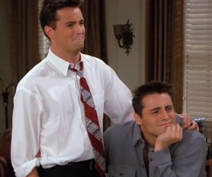 friends, boy, and chandler bing image