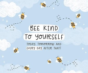 happiness, quotes, and bee image
