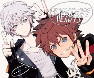 kingdom hearts, riku, and sora image