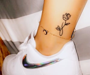 ankle, infinity, and rose image