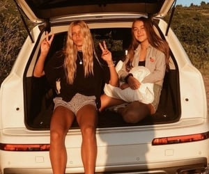 friends, car, and bff image