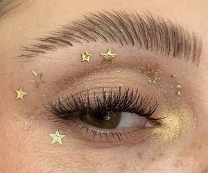 stars, gold, and makeup image