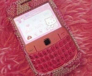 pink, hello kitty, and blackberry image