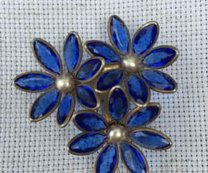 blue flowers, etsy, and art deco jewelry image
