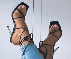 heels, pedicure, and pink image