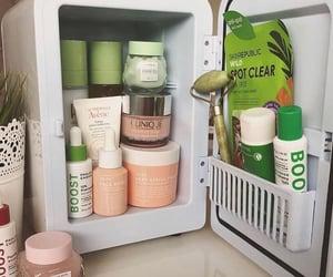 aesthetic, skin care, and mini fridge image