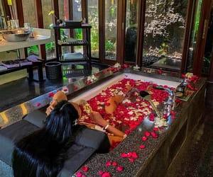 rose, luxury, and bathroom image