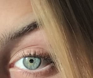 blue eyes, girl, and eye image