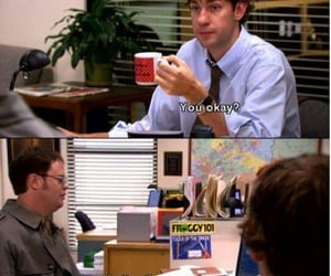 dwight, funny, and jim image