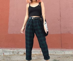 aesthetic, grunge, and plaid pants image