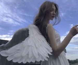 aesthetic, girl, and angel image