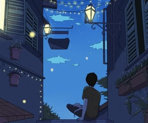 art, illustration, and night image