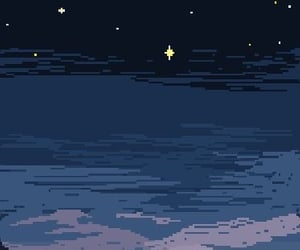wallpaper, pixel, and sunset image