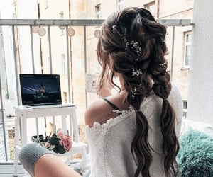 beauty, hairstyle, and moments image