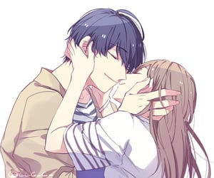 anime girl, anime couple, and cute image
